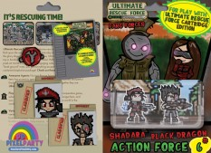 URF! Action Force 6: Shadara and Black Dragon