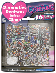 Diminutive Denizens Deluxe: CyperPunks Minis Pack