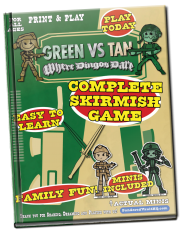Green Vs. Tan - Complete Skirmish Game and Minis! Easy To Learn and Play Today!
