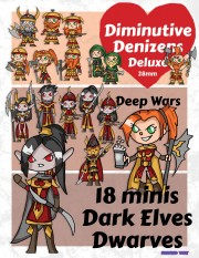 Diminutive Denizens Deluxe: Deep Wars Minis Pack