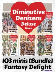 Fantasy Delight Bundle: Diminutive Denizens Deluxe 28mm [BUNDLE]