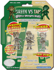 Green Vs. Tan - Green Reinforcements Pack 1 - Triple Heroes!